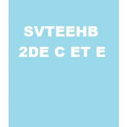 SVTEEHB | NIVEAU 2NDE C ET E