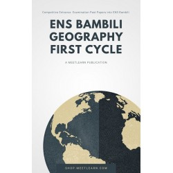 Geography First Cycle ENS...